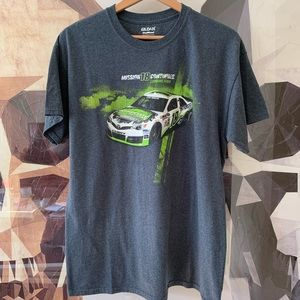 Tops - Race car graphic oversized tee grey L